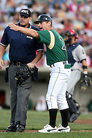 August 15 2008:  Manager Aaron Nieckula of the Kane County Cougars, Class-A affiliate of the Oakland Athletics, during a game at Philip B. Elfstrom Stadium in Geneva, IL.  Photo by:  Mike Janes/Four Seam Images