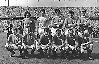 9th May 1970, Olympiastadion, West Berlin, West Germany; International friendly football, West Germany versus Ireland; Goalie Alan Kelly, Johnny Giles, Tommy Carroll, Shay Brennan, Eoin Hand, Anthony Byrne, John Dempsey, Paddy Mulligan, Jimmy Conway, Don Givens, Terry Conroy