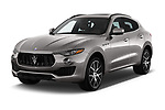 2017 Maserati Levante Base 5 Door SUV angular front stock photos of front three quarter view