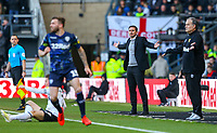 Derby County manager Frank Lampard gestures<br /> <br /> Photographer Alex Dodd/CameraSport<br /> <br /> The EFL Sky Bet Championship Play-off  First Leg - Derby County v Leeds United - Thursday 9th May 2019 - Pride Park - Derby<br /> <br /> World Copyright © 2019 CameraSport. All rights reserved. 43 Linden Ave. Countesthorpe. Leicester. England. LE8 5PG - Tel: +44 (0) 116 277 4147 - admin@camerasport.com - www.camerasport.com
