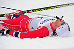 HOLMENKOLLEN, OSLO, NORWAY - March 16: Petter jr. Northug of Norway (NOR) after the Men 50 km mass start, free technique, at the FIS Cross Country World Cup on March 16, 2013 in Oslo, Norway. (Photo by Dirk Markgraf)