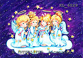 Interlitho, CHRISTMAS CHILDREN, WEIHNACHTEN KINDER, NAVIDAD NIÑOS, paintings+++++,4 angels,cloud,stars,KL6029,#xk#