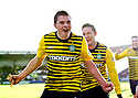 CELTIC'S JAMES FORREST CELEBRATES AFTER HE SCORES THE FIRST