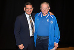 St Johnstone FC Academy Awards Night...06.04.15  Perth Concert Hall<br /> Chairman Steve Brown who made a special presentation to 76 year old goalkeeping coach Graham Bryce<br /> Picture by Graeme Hart.<br /> Copyright Perthshire Picture Agency<br /> Tel: 01738 623350  Mobile: 07990 594431