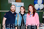 David McMahon, Caemnhe Moore and Sandra Kelly at the Premier World Travel stand at the Tralee Enterprise Town Community, Sport and Business Expo at Tralee Sports Complex on Saturday morning last.