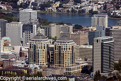aerial photograph Federal Towers, Oakland, California