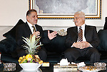 Palestinian President Mahmoud Abbas meets the syrian scientists nexus delegation, in The Syrian Capital of Damascus.