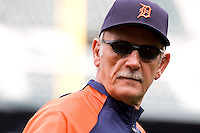 July 5, 2008: Detroit Tigers manager Jim Leyland prior to a game against the Seattle Mariners at Safeco Field in Seattle, Washington.