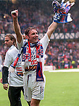 Ally McCoist at Ibrox for the nine in a row title winning party, 1997