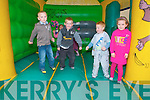 Dromerin School Family Fun Day: Having fun in the bouncing castle at the Family fun day at Dromerin National  School, Listowel on Sunday last.L -  R: Sma Enright, Jack O'Leary, Luke Power & Niamh Horgan.