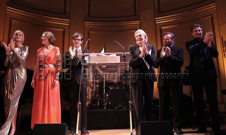 Vanessa Redgrave, Joely Richardson, Peter Nero, Liam Neeson & family attending the American Theatre Wing's annual gala at the Plaza Hotel on Monday Sept. 24, 2012 in New York.