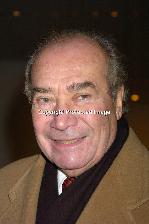 Herman Badillo..at the NYC and Company dinner honoring leaders in ..Tourism:  including American Express's Ken Chenault, ..NBC Universal's Bob Wright, Nicole Miller and Joseph Spinnato  on December 13, 2004 at the Museum of Modern ..Art. ..Photo by Robin Platzer, Twin Images