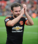 An unhappy Juan Mataof Manchester United walks off at the end of the game<br /> - Barclays Premier League - Stoke City vs Manchester United - Britannia Stadium - Stoke on Trent - England - 26th December 2015 - Pic Robin Parker/Sportimage