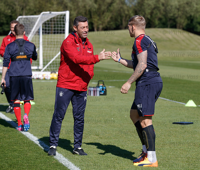 Pedro Caixinha and Martyn Waghorn