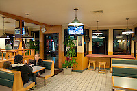 Steve's pizza pizzeria interior In Falmouth, Cape Cod