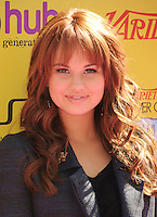 HOLLYWOOD, CA - OCTOBER 22: Debby Ryan arrives at Variety's 5th annual Power Of Youth event presented by The Hub at Paramount Studios on October 22, 2011 in Hollywood, California. /NortePhoto.com<br />