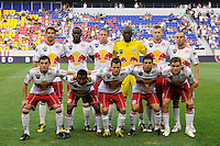 New York Red Bulls starting eleven. The New York Red Bulls defeated Chivas USA 1-0 during a Major League Soccer (MLS) match at Red Bull Arena in Harrison, NJ, on June 5, 2010.