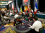 A view of the World Cup tournament area during the heads up rounds.