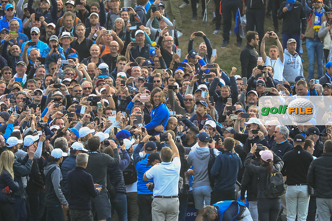 Tommy Fleetwood (Team Europe) during the sunday singles at the Ryder Cup, Le Golf National, Paris, France. 30/09/2018.<br /> Picture Phil Inglis / Golffile.ie<br /> <br /> All photo usage must carry mandatory copyright credit (© Golffile   Phil Inglis)