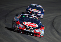 Oct. 10, 2009; Fontana, CA, USA; NASCAR Nationwide Series driver Kevin Harvick during the Copart 300 at Auto Club Speedway. Mandatory Credit: Mark J. Rebilas-