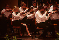 The string section at the New Zealand Parliamentary Press Dinner honoring South African President Nelson Mandela in Wellington, New Zealand in 1995.