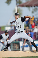 June 24 2007: Darren Sack of the San Jose Giants pitches against the Inland Empire 66'ers at Arrowhead Credit Union Park in San Bernardino,CA.  Photo by Larry Goren/Four Seam Images