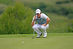 Rory McIlroy (N.IRL) lines up his putt on the 15th green during the afternoon session on Day 2 of the Volvo World Match Play Championship in Finca Cortesin, Casares, Spain, 20th May 2011. (Photo Eoin Clarke/Golffile 2011)