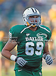 Baylor Bears offensive linesman Pat Colbert (69) in action during the game between the Rice Owls and the Baylor Bears at the Floyd Casey Stadium in Waco, Texas. Baylor defeats Rice 56 to 31..