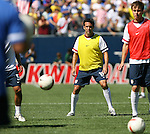 09 September 2007: The United States' Kerry Zavagnin (19). The Brazil Men's National Team defeated the United States Men's National Team 4-2 at Soldier Field in Chicago, Illinois in an international friendly labeled the Clash of Champions.