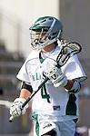La Canada Flintridge, CA 03/16/13 - Gio Rico (De La Salle #4) in action during the De La Salle vs Coronado lacrosse game at St Francis High School.  De La Salle defeated Coronado 8-5.