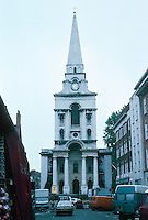 Nicholas Hawksmoor: Christ Church, Spitafields 1714-29. Commercial Street, Spitafields Market. Photo '05.