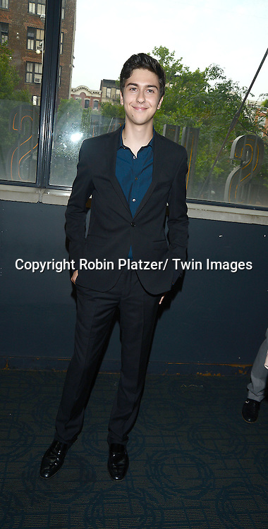 """Nat Wolff attends the New York Screening of """"Stuck In Love"""" on June 26, 2013 at The Sunshine Landmark Theatre in New York City. The movie stars Liana Liberato, Nat Wolff and Patrick Schwarzenegger and was written and directed by Josh Boone."""
