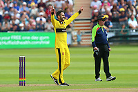 Jack Taylor of Gloucestershire celebrates taking the wicket of Ashar Zaidi during Gloucestershire vs Essex Eagles, NatWest T20 Blast Cricket at The Brightside Ground on 13th August 2017