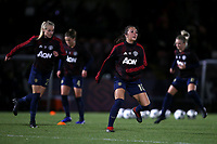 Katie Zelem of Manchester Utd warms up during Arsenal Women vs Manchester United Women, FA WSL Continental Tyres Cup Football at Meadow Park on 7th February 2019