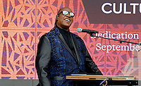 Stevie Wonder performs &quot;Visions&quot; during the opening ceremony of the Smithsonian National Museum of African American History and Culture on September 24, 2016 in Washington, DC. The museum is opening thirteen years after Congress and President George W. Bush authorized its construction. <br /> Credit: Olivier Douliery / Pool via CNP / MediaPunch