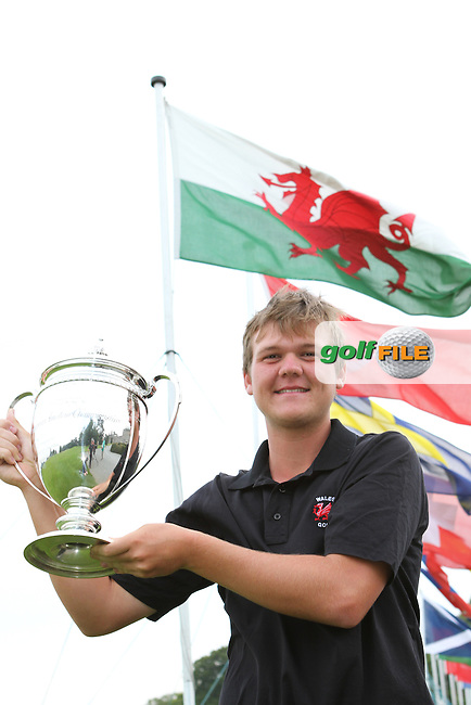 Rhys Pugh (Wales) who won with -11 on the Final Day of the International European Amateur Championship 2012 at Carton House, 11/8/12...(Photo credit should read Jenny Matthews/Golffile)...