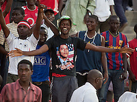 Nigeria Fans. US Men's National Team Under 17 defeated Malawi 1-0 in the second game of the FIFA 2009 Under-17 World Cup at Sani Abacha Stadium in Kano, Nigeria on October 29, 2009.