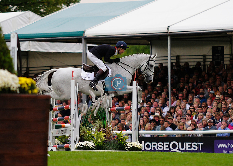 3rd September 2017. Harry Meade (GBR) riding Away Cruising during the Show Jumping Phase of the 2017 Land Rover Burghley Horse Trials, Stamford, United Kingdom. Jonathan Clarke/JPC Images