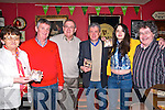 "Monica's Song : Pictured at the launch of"" Monica's Song"" , written by Mick MacConnell and sung by Eoin Hand at Kearney's Bar, Moyvane on Saturday night last  were Mairead Kearney, Declan Sheehy, Eoin Hand, Billy Kean, Maireda Kearney & Gabriel Fitzmaurice."