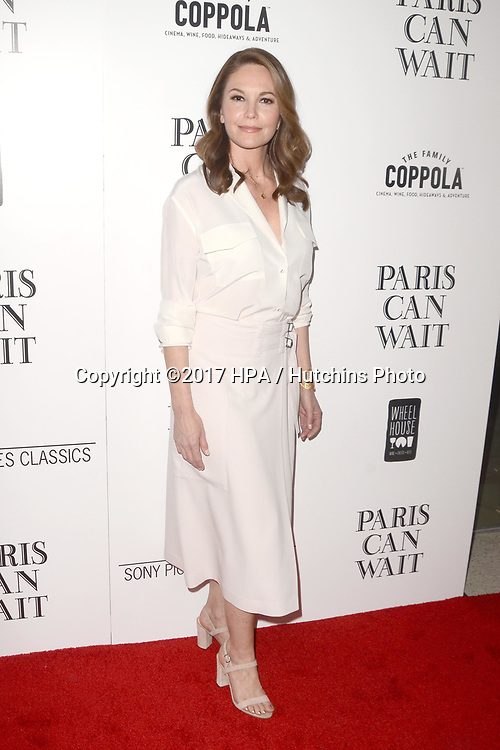 "LOS ANGELES - MAY 11:  Diane Lane at the ""Paris Can Wait"" Los Angeles Special Screening at the Pacific Design Center on May 11, 2017 in West Hollywood, CA"