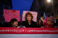 Singer Fiorella Mannoia<br /> Rome March 8th 2019. Demonstration and strike for the International Women's day against violence against women.<br /> Foto Samantha Zucchi Insidefoto