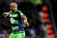 Andre Ayew of Swansea City during the Barclays Premier League match between West Bromwich Albion and Swansea City at The Hawthorns on the 2nd of February 2016