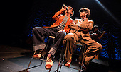 DEXYS-vocalists Kevin Rowland and Pete Williams performing live at The Roundhouse London - 27 June 2014.  Photo credit: Iain Reid/IconicPix
