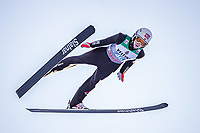 1st January 2020, Olympiaschanze, Garmisch Partenkirchen, Germany, FIS World cup Ski Jumping, 4-Hills competition; Sondre Ringen of Norway during his trial Jump for the Four Hills Tournament