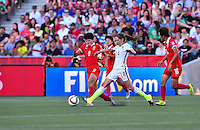 Ottawa, Canada - Friday, June 26, 2015: The USWNT play China PR in Quarter-Final action during FIFA Women's World Cup 2015 at Landsdowne Stadium.