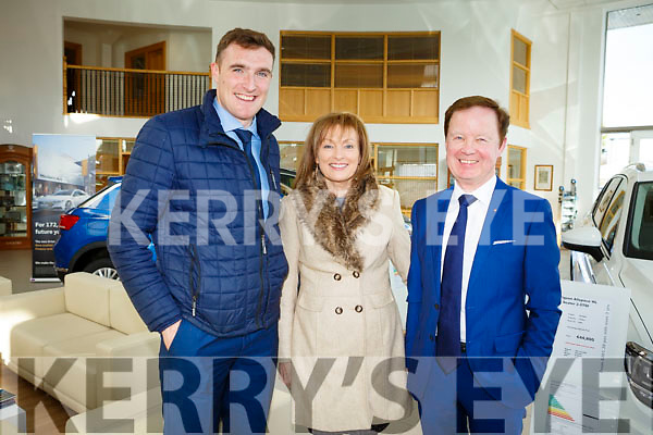 At the RTE's Nationwide recording of the programme in Divanes Castleisland on Tuesday afternoon last, l-r, Brendan O'Sullivan, Mary Kennedy (Presenter) and Dennis Divane of Divanes Castleisland)