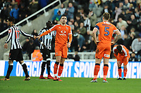 A dejected Johnny Mullins of Luton Town during Newcastle United vs Luton Town, Emirates FA Cup Football at St. James' Park on 6th January 2018