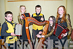 INTRUMENTAL: The Currow Intrumental Group who putting the final touches to their rehearsals in the Scór Na bPhaistí, 2014 in Tintean Theatre,Ballybunion on Sunday l-r:Tadhg Broderick, Siobhan Brosnan,Paul O'Connor, Elizabeth Brosnan and Ciara Fitzgerald.