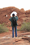 Photo workshop at Turret Arch, Arches National Park, Moab, UT.  <br />