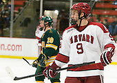 Danny Biega (Harvard - 9) - The Harvard University Crimson defeated the visiting Clarkson University Golden Knights 3-2 on Harvard's senior night on Saturday, February 25, 2012, at Bright Hockey Center in Cambridge, Massachusetts.